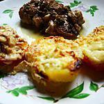 recette tomates , p de terre gratinées