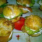 recette mini burger apéro saumon et crème citronnée