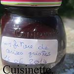 recette Confiture de cerises griottes.