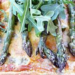 recette quiche d'asperges vertes à la roquette