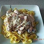 recette Tagliatelles au saumon sauce Boursin