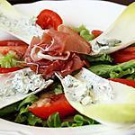 recette Salade endive à la crème de roquefort