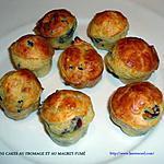 recette MINI CAKES AU FROMAGE ET AU MAGRET FUMÉ