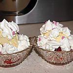 recette Coupes glacées fraises meringuées