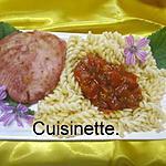 recette Thon rouge à la sauce tomates échalotes.