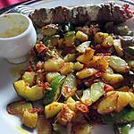 recette poelée de  p de terre et courgettes au curry de la popotte coup de coeur de maman
