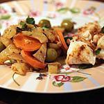 recette Tajine de dos de cabillaud, fenouil, citron et olives
