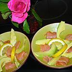recette Salade de avocat et saumon