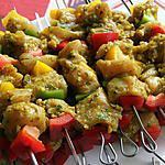 recette brochettes de dinde marinées