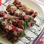 recette Brochettes de veau marinée