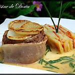 recette Gigot d'agneau et terrine de pommes de terre aux tomates semi séchées