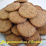 recette Petits sablés noix de coco-cannelle