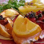 recette SAUMON AUX 2 POMMES
