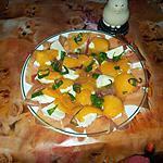 recette melon et mozzarella au basilic frais