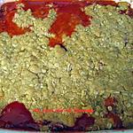recette Croustillant aux fraises et rhubarbe