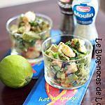 recette Verrine avocat, crevettes aux épices