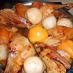 recette Canette rotie aux peches