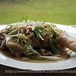recette Poulet  mijoté avec les oignons verts