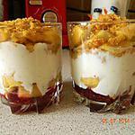 recette Verrine fromage blanc pommes caramélisées et gelée de framboises