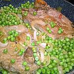recette côtes de porc aux petits pois