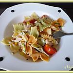 recette Salade de pâtes multicolores
