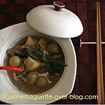 recette Curry vert avec bœuf et fruits