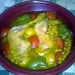 recette tajine aux poulets et pois chiches (pour 2 personnes)