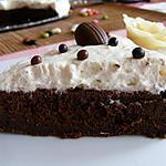 recette Moelleux au chocolat inspiré de L. Salomon recouvert de chantilly au pralin