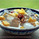 recette L'agar-agar Japonais avec la pêche et la  fleurs de cerisier marinée