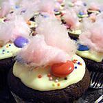 recette Cupcakes au chocolat, smarties et barbe à papa