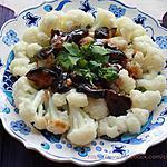 recette Chou-fleur  avec champignons à la sauce d'huître