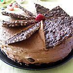 recette Gâteau au chocolat, framboises et mûres et son croquant de chocolat aux riz soufflé