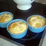 recette Petits clafoutis aux abricots (recette inspiré par cuisinette )