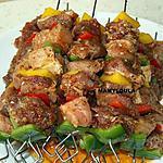 recette Brochettes de porc marinées