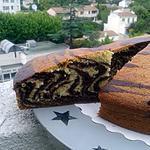 recette cake zebré