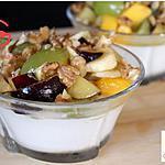 recette Yaourt aux fruits, miel et noix