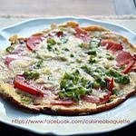 recette Pizza d'œuf aux goji