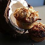 recette muffin gourmand lait de coco / banane/ noix de pécan