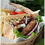 recette ~Hamburger au dindon, relish aux tomates et aux olives~