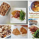 recette Poulet pané façon cajun, haricots verts et crumble de patates douces