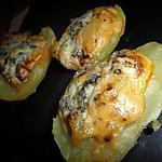 recette Pommes de terre farcies au chorizo et roquefort