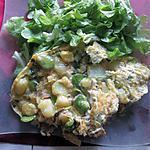 recette omelette aux féves idée de mamyloula  et crémina