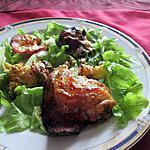 recette assiette  poulet  sucrée salée