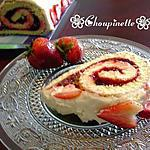 Gâteau roulé aux fraises