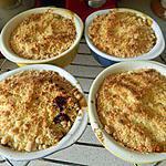 recette Crumble pommes-bananes chocolat