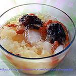 recette La soupe sucré de Trémelle en fuseau  avec goji et jujubiers rouge