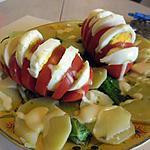 recette salade de tomates aux oeufs
