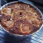 recette Tarte au poire et aux amandes