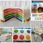 recette Rainbow Cake (génoise et crème au beurre vanillée)
