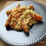 recette Risotto au crevettes mascarpone et curry